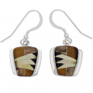 Southwest Tiger Eye And Multicolor Earrings EX32730
