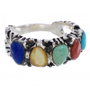 Sterling Silver Multicolor Ring Size 6-1/4 WX34796