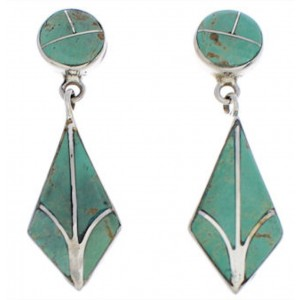 Southwest Turquoise And Silver Earrings EX31909