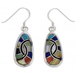 Multicolor Inlay And Sterling Silver Earrings EX31964