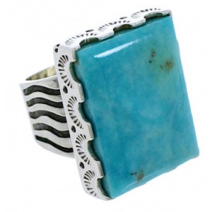 Turquoise Jewelry Sterling Silver Ring Size 6 YX34692