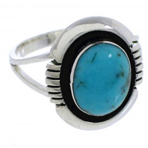 Sterling Silver Turquoise Southwestern Jewelry Ring Size 6-1/4 YX34845