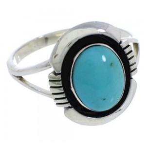 Genuine Silver Turquoise Southwestern Jewelry Ring Size 5-3/4 YX34850
