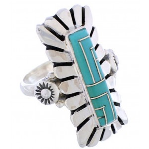 Turquoise And Sterling Silver Ring Size 5-3/4 EX42872