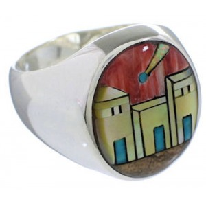 Native American Design Southwest Multicolor Ring Size 10-1/2 TX42251