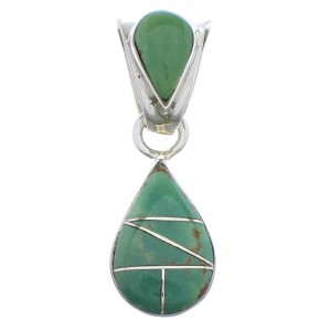Sterling Silver Tear Drop Turquoise Pendant PX28856