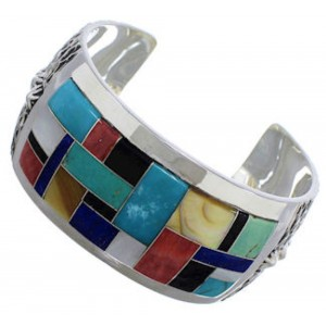 Multicolor Inlay Jewelry Silver Southwest Bracelet FX27904