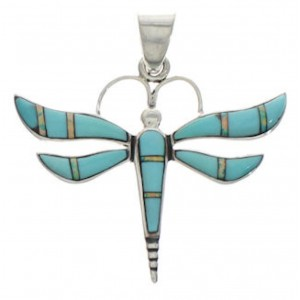 Sterling Silver Turquoise And Opal Dragonfly Pendant EX33133
