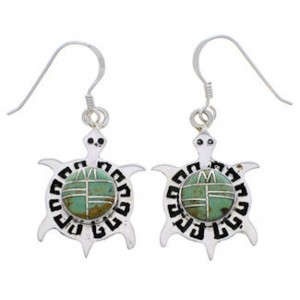 Sterling Silver Jewelry Turtle Turquoise Earrings PX31981