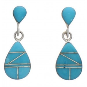 Sterling Silver Turquoise Inlay Earrings FX31110