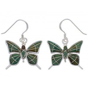 Turquoise Butterfly Sterling Silver Earrings FX31897