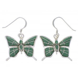 Turquoise Jewelry Butterfly Sterling Silver Earrings FX31898