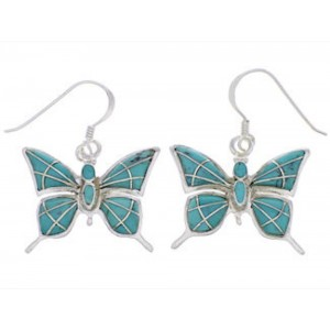 Turquoise Jewelry Butterfly Silver Earrings FX31899
