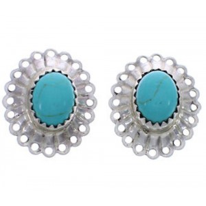 Southwestern Green Turquoise Concho Clip On Earrings PX26041