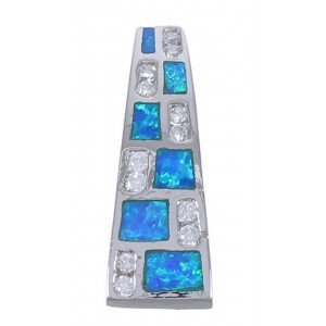 Blue Opal And Cubic Zirconia Pendant EX42741