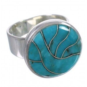 Substantial Turquoise And Silver Southwest Ring Size 5-1/4 WX37996