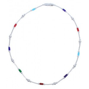 Multicolor And Liquid Silver Bead Anklet FX31162