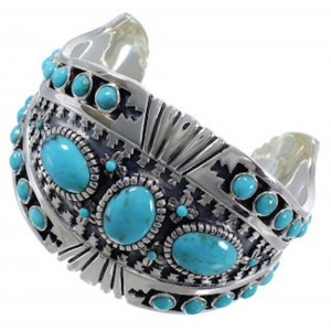Turquoise High Quality Jewelry Southwest Silver Cuff Bracelet EX28286