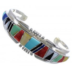 Multicolor Southwest Jewelry Silver Sturdy Cuff Bracelet EX28208