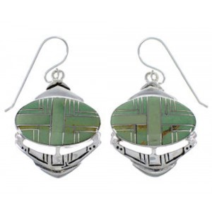 Turquoise Inlay Silver Jewelry Earrings PX32782