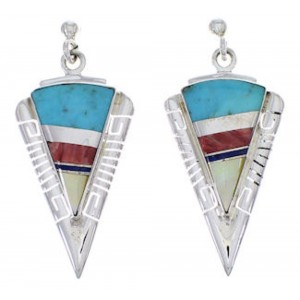 Multicolor And Genuine Sterling Silver Earrings EX31431