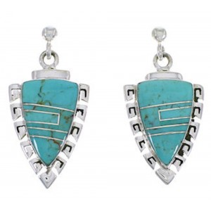 Southwest Turquoise Inlay Jewelry Earrings EX31523