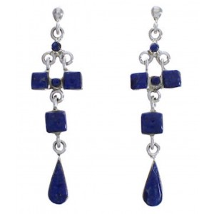 Lapis And Genuine Sterling Silver Earrings EX31570