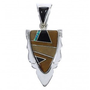 Tiger Eye And Multicolor Southwest Jewelry Pendant EX30550