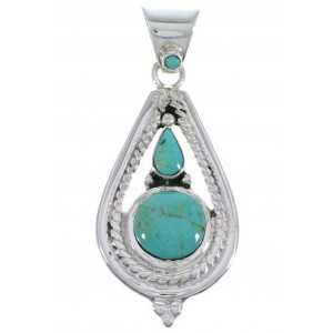 Sterling Silver Turquoise Southwest Pendant FX30872