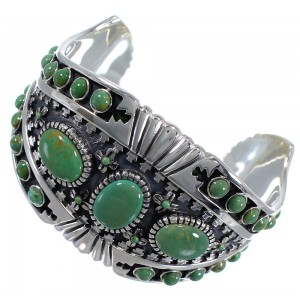 Sterling Silver Turquoise Southwest Cuff Bracelet CX47747