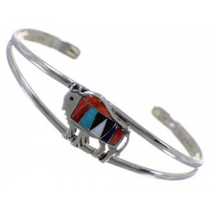 Turquoise Multicolor Jewelry Silver Buffalo Cuff Bracelet HS29917