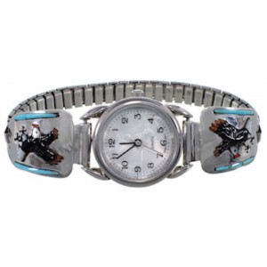 Genuine Sterling Silver Multicolor Eagle Watch EX47994
