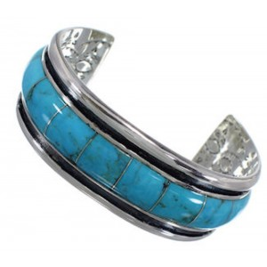 Southwestern Turquoise Silver Cuff Bracelet EX41615