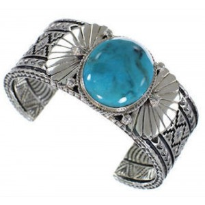 Southwest Turquoise Jewelry Sterling Silver Cuff Bracelet HX27277