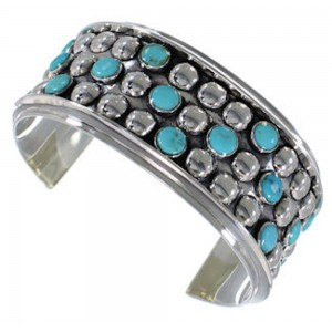 Sterling Silver Turquoise Southwestern Cuff Bracelet MX27512