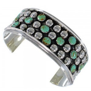 Sterling Silver Southwest Turquoise Jewelry Cuff Bracelet MX27529