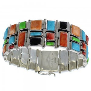 Multicolor And Silver Whiterock Link Bracelet YS69798