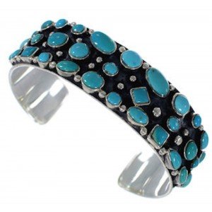 Authentic Sterling Silver Turquoise Bracelet Jewelry VX37758