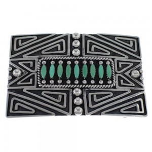Silver Jewelry Southwest Turquoise Belt Buckle PX29146