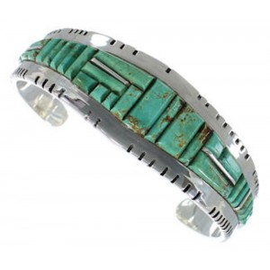 Southwestern Jewelry Turquoise Sterling Silver Cuff Bracelet EX27397