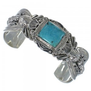 Turquoise Southwest Sterling Silver Jewelry Bracelet FX27469