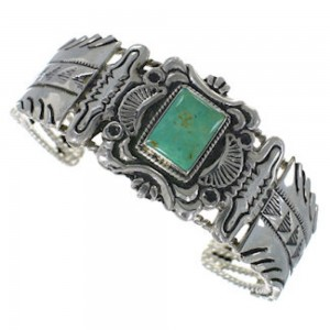 Sterling Silver Jewelry Turquoise Cuff Bracelet RS75377