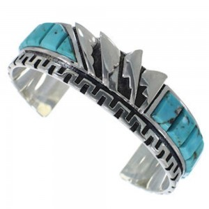 Turquoise Sterling Silver Cuff Bracelet Southwest Jewelry BW66335