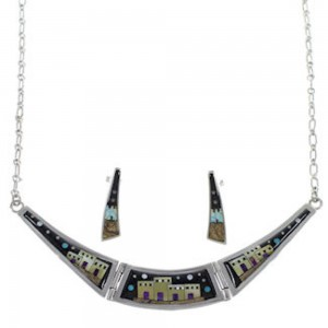 Native American Design Southwest Multicolor Necklace Set GS62281