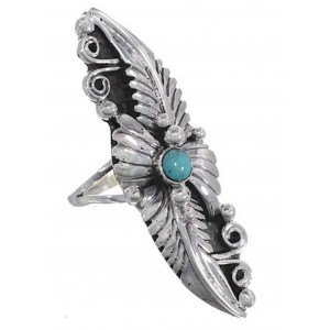 Southwest Silver Turquoise Jewelry Ring Size 6-1/2 NS54784