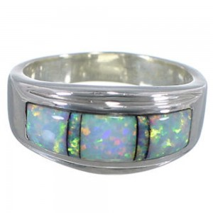 Southwest Opal Sterling Silver Jewelry Ring Size 5-3/4 MW64402
