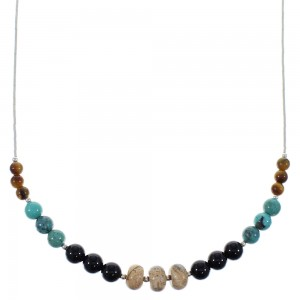 Liquid Silver Jewelry And Multicolor Necklace PX41092