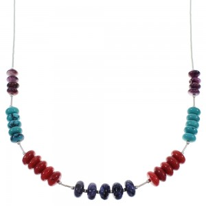 Liquid Silver And Multicolor Necklace PX41098