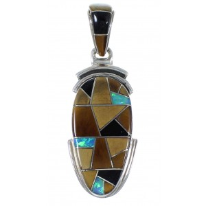 Multicolor Inlay Southwestern Pendant EX41253