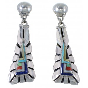 Multicolor Inlay Southwestern Earrings EX41013